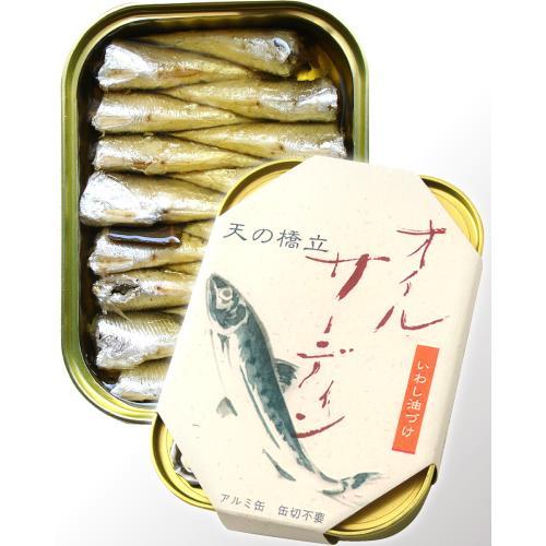 天の橋立オイルサーディン 竹中缶詰(いわし油づけ 缶詰) 【賞味期限:2024年3月30日】 (1〜6個迄、ワイン(=750ml)11本と同梱可) takamura