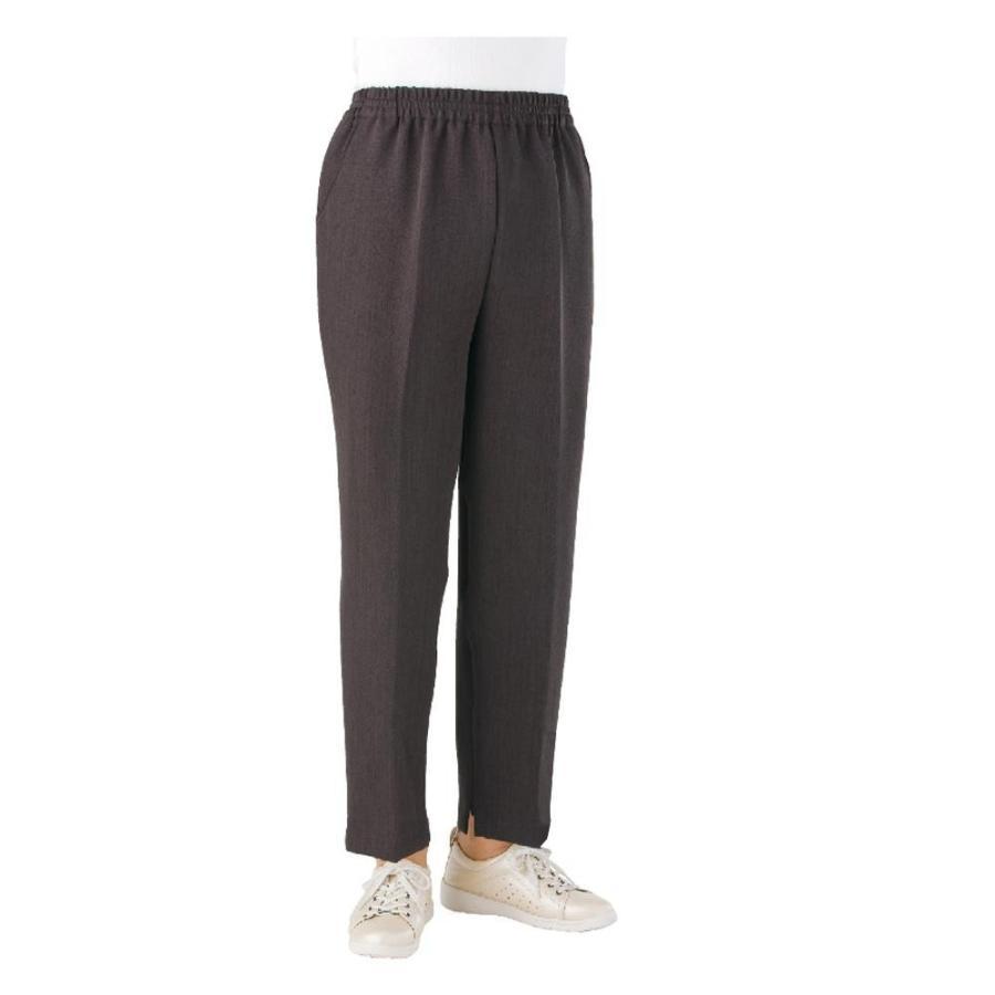 良質  L(股下60cm) ブラウン トレヒート裾ファスナーパンツ(婦人) 39029-12-介護用品