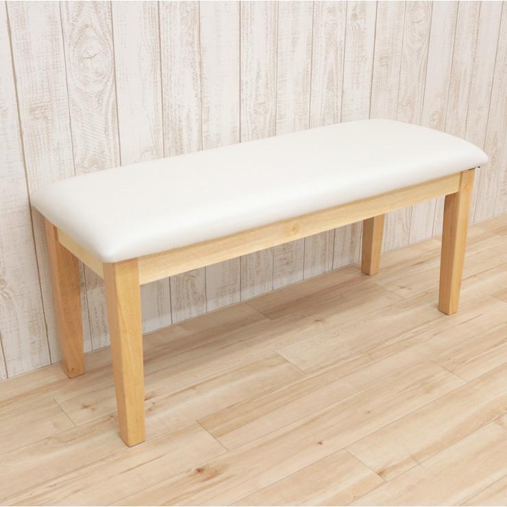 ダイニングベンチ 95cm ac2-360-bencw 2人 ホワイト ウォッシュ クリア色 木製 クッション 玄関 長椅子 待合室 アウトレット ac2 kurosu mindi 1s-1k-147 sg|takara21|05