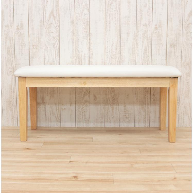ダイニングベンチ 95cm ac2-360-bencw 2人 ホワイト ウォッシュ クリア色 木製 クッション 玄関 長椅子 待合室 アウトレット ac2 kurosu mindi 1s-1k-147 sg|takara21|06