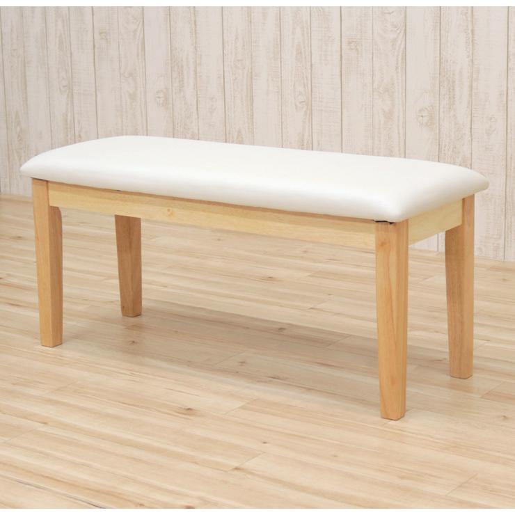 ダイニングベンチ 95cm ac2-360-bencw 2人 ホワイト ウォッシュ クリア色 木製 クッション 玄関 長椅子 待合室 アウトレット ac2 kurosu mindi 1s-1k-147 sg|takara21|07