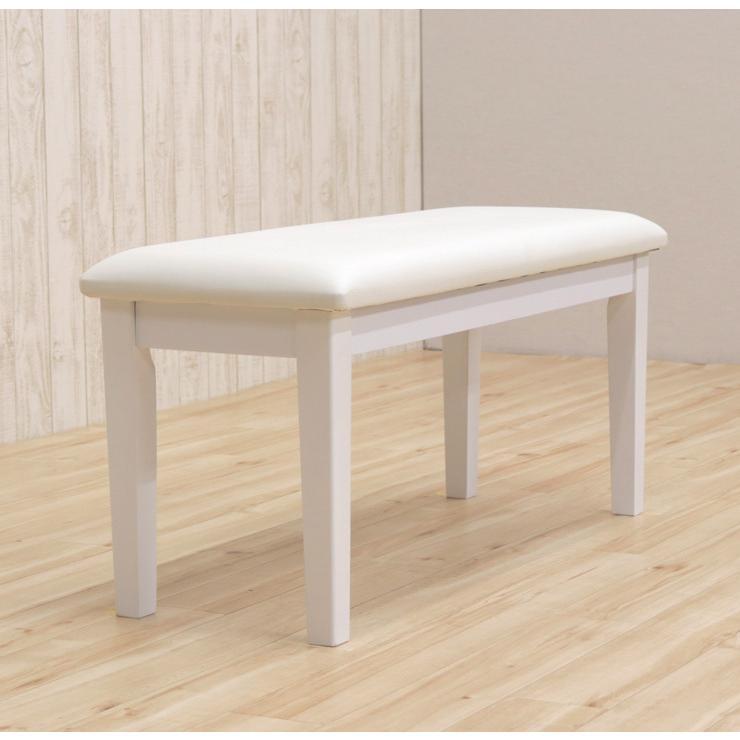 ダイニングベンチ 95cm ac2-360-bencw 2人 ホワイト ウォッシュ クリア色 木製 クッション 玄関 長椅子 待合室 アウトレット ac2 kurosu mindi 1s-1k-147 sg|takara21|10