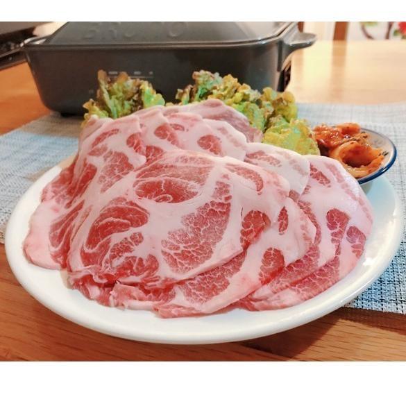 送料無料 イベリコ豚 焼肉用 スペイン産 1kg 500g×2P 豚 ぶた イベリコ BBQ キャンプ スライス サムギョプサル|takarajima9666|03
