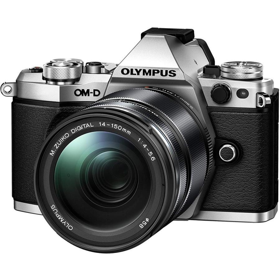 オリンパス OLYMPUS ミラーレス一眼 カメラ OM-D E-M5 MarkII 14-150mm II ズーム レンズキット シルバー|takaranoomise