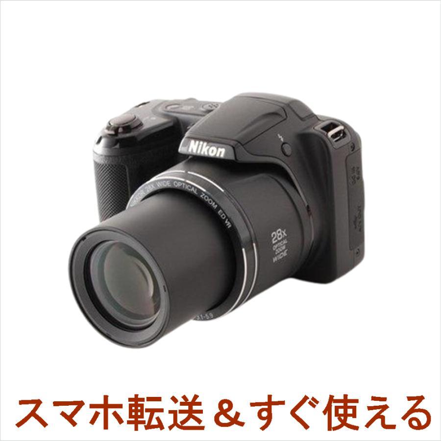 Nikon Cool Pix クールピクス L340 コンパクトデジタル カメラ ブラック 中古 初心者おすすめ 超高倍率 Wi-Fi takaranoomise