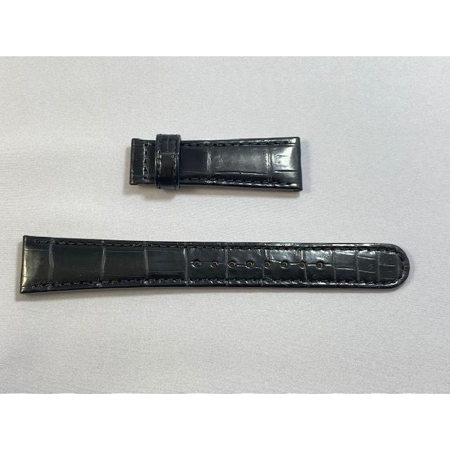 C004014J9 SEIKO グランドセイコー 19mm 純正革ベルト Dバックル用 クロコダイル ブラック SBGX095/9F62-0AB0他用 ネコポス送料無料|takayama-watch|02