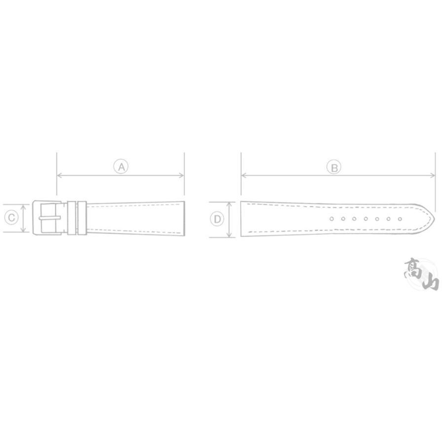 C004014J9 SEIKO グランドセイコー 19mm 純正革ベルト Dバックル用 クロコダイル ブラック SBGX095/9F62-0AB0他用 ネコポス送料無料|takayama-watch|05