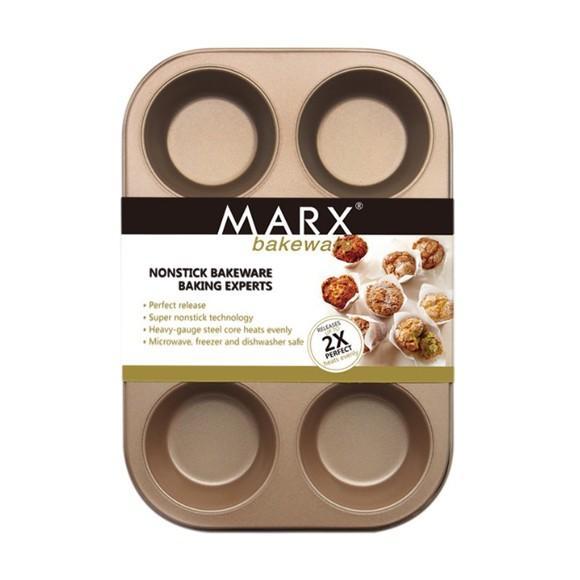 マフィン型 6ヶ取 / 1枚  お菓子作りの型 マドレーヌ・フィナンシェ天板型(家庭用オーブンサイズ) 表面フッ素加工  送料無料 |takayama