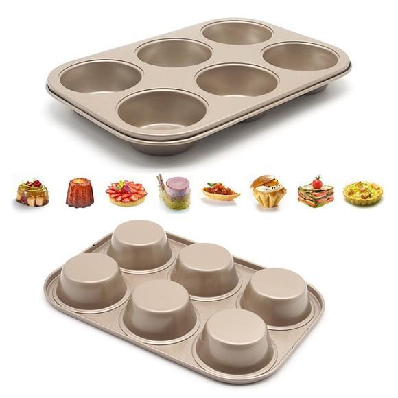マフィン型 6ヶ取 / 1枚  お菓子作りの型 マドレーヌ・フィナンシェ天板型(家庭用オーブンサイズ) 表面フッ素加工  送料無料 |takayama|02