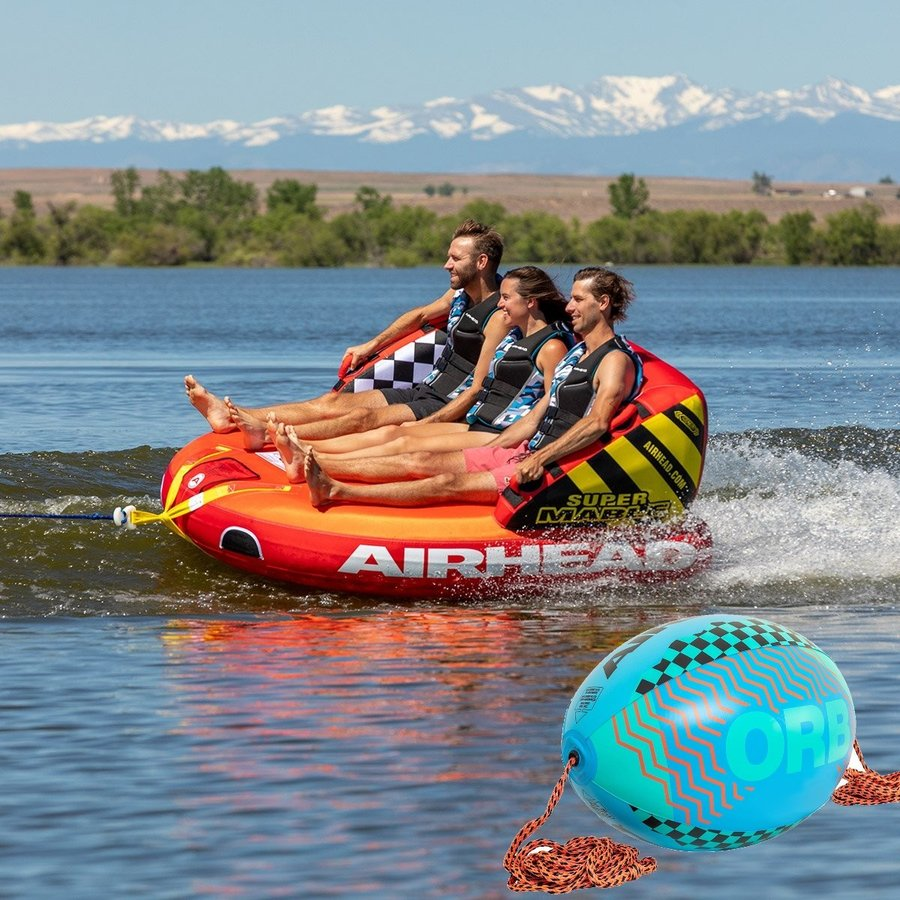 SPORTSSTUFF SUPER MABLE 3人乗り スーパーマーブル トーイングチューブ/ウォータートーイ/スポーツスタッフ/53-2223/ブースターボール付き