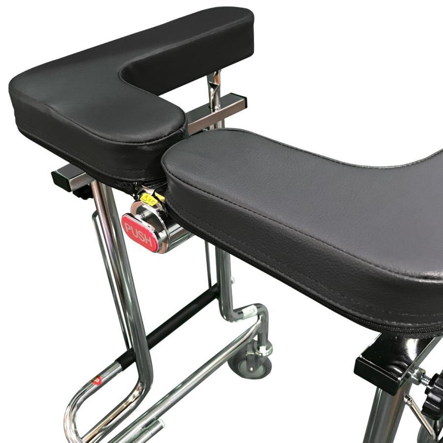 歩行器 高齢者 室内用 介護用品 福祉用具 歩行補助 リハビリ 馬蹄式 肘支持 前腕支持型歩行車 アルコー1S型 takecare-delivery 04