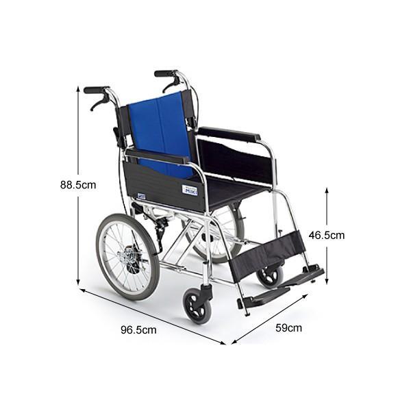 車椅子-介助型 スタンダード車いす 介助型 BAL-2|takecare-delivery|02