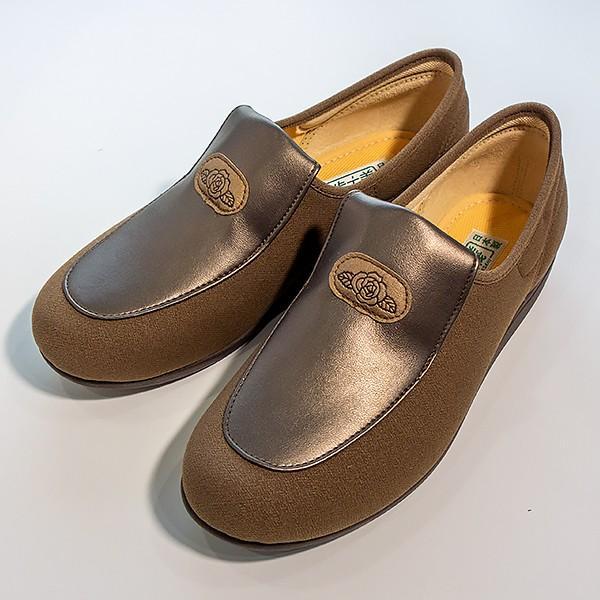 在庫処分品 介護用シューズ 介護用品 介護靴 女性用 アサヒシューズ 快歩主義 L122 23.5cm オーク|takecare-delivery