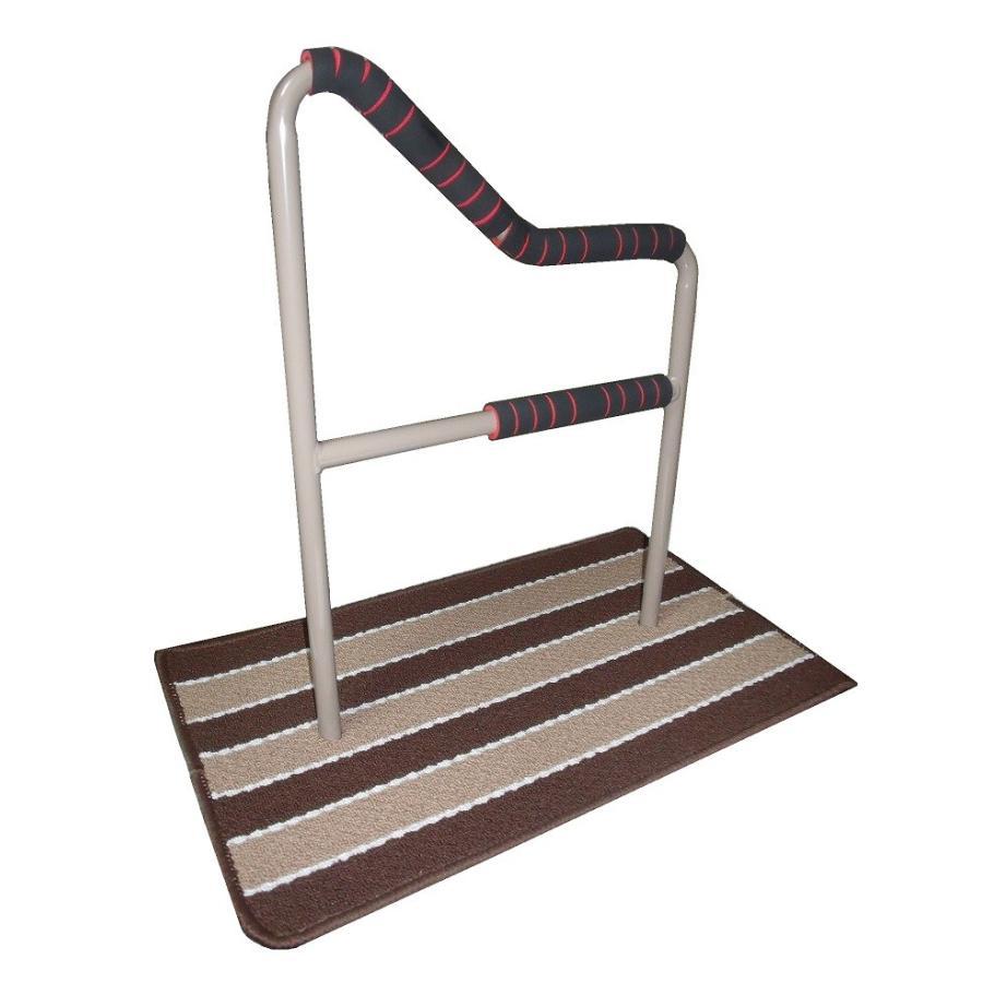 立つ之助 和 立ち上がり補助手すり 握る場所が3ヶ所 布団 座椅子 など スチール素材 ライトブラウン 日本製 takei-co 02