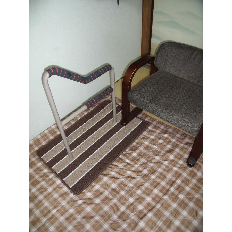 立つ之助 和 立ち上がり補助手すり 握る場所が3ヶ所 布団 座椅子 など スチール素材 ライトブラウン 日本製 takei-co 03