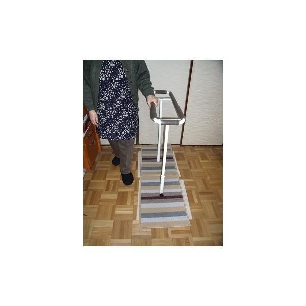 歩行訓練器具 立つ之助 歩 スチール素材 ライトブラウン掲載画像の白とは異なります 日本製|takei-co|02