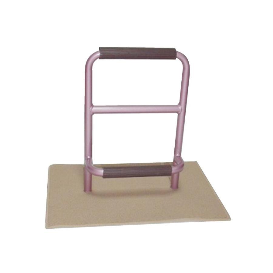 立つ之助 元気 立ち上がり補助手すり 掴まる所が2つで便利 介護 布団 和室 座敷 など スチール素材 薄あずき色 日本製|takei-co|02