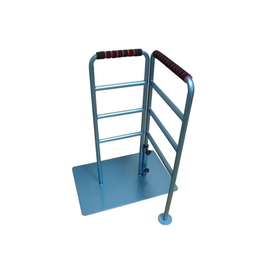 立つ之助 のび太 立ち上がり補助手すり 左右ストレート90度毎に方向延長 スチール素材 ライトブルー 日本製 takei-co 03