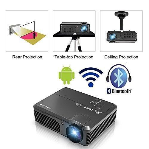 上品なスタイル プロジェクター Bluetooth 3600ルーメン Android Bluetooth WiFi接続 フルHD フルHD 1080p入力対応1920x1200最大解像度 Android, NaRaYa by tamy:b8048934 --- grafis.com.tr