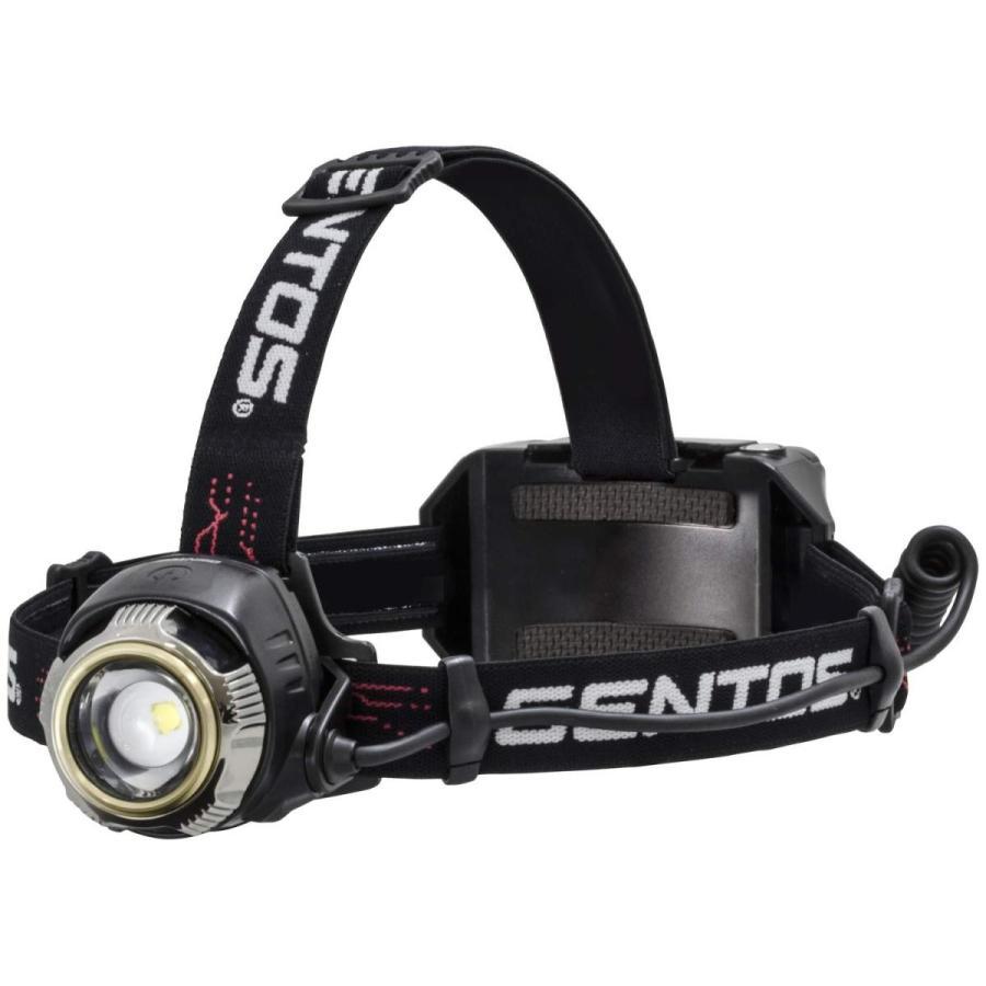 GENTOS(ジェントス) LED ヘッドライト USB充電式 明るさ1100ルーメン/実用点灯7時間 専用充電池または単3形電池4本使用