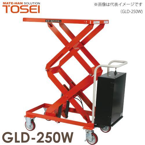 東正車輌 テーブルリフト ボールネジ・電動式 ゴールドリフター 250kg 昇降電動式 GLD-250W