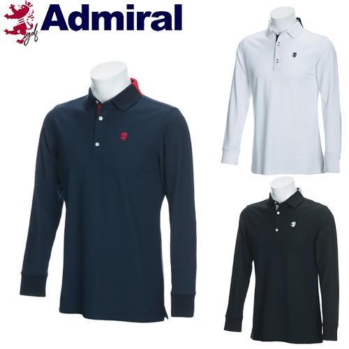 キャッシュレス還元5% 40%オフ アドミラル ゴルフ メンズ ウェア ポロ シャツ 長袖 吸水速乾 ADMA8P1