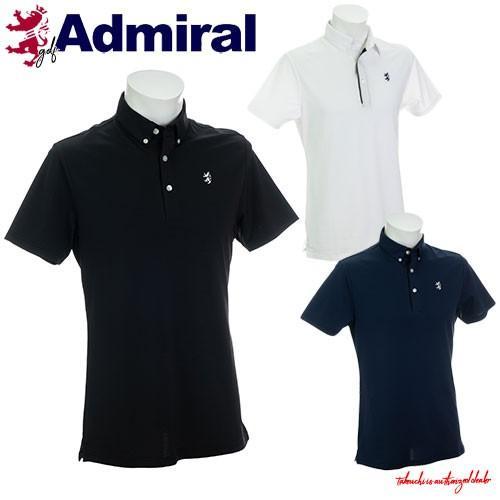 キャッシュレス還元5% 30%オフ アドミラル ゴルフ メンズ ウェア シャツ 3Dロゴ ボタンダウン ポロシャツ 半袖 ADMA904  Admiral Golf 19SS