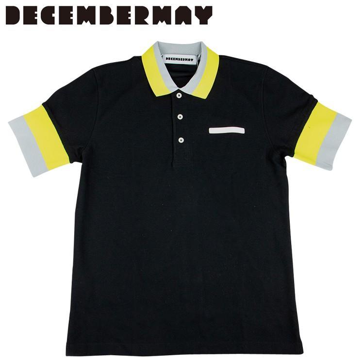 日本人気超絶の ディセンバーメイ ゴルフ メンズ 半袖 ポロシャツ 2トーン 1-905-0101 DECEMBERMAY, セヤク ec05cd5d