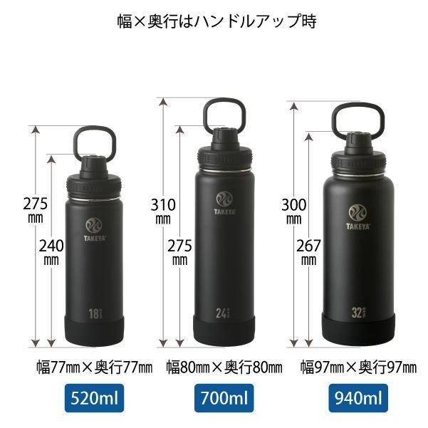 水筒 送料無料  タケヤ メーカー公式  タケヤフラスク アクティブライン 1.17L 40oz バンパー標準装備 キャリーハンドル仕様 ステンレスボトル TAKEYA 1L takeya-official 07