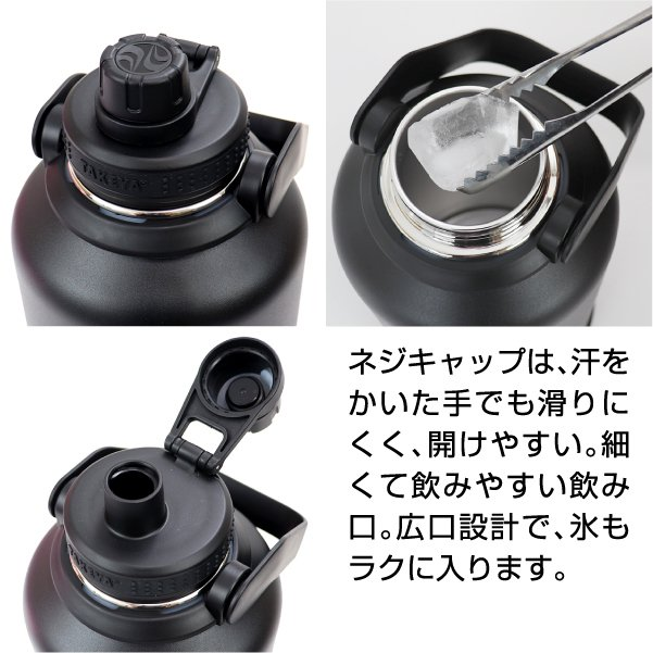 水筒 送料無料  タケヤ メーカー公式  タケヤフラスク アクティブライン 1.9L  大容量 バンパー標準装備 キャリーハンドル仕様 ステンレスボトル  TAKEYA|takeya-official|02