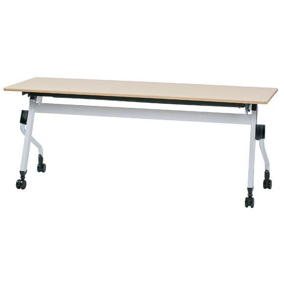 11月下旬以降のお届け 井上金庫販売 ZBRシリーズ 平行 スタックテーブル ZBR-1845 NA ナチュラル 幅1800 奥行450 高さ700mm