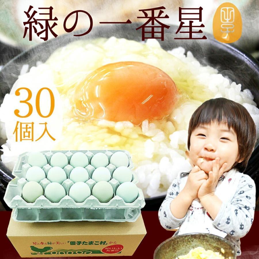 卵 高級 卵かけご飯 生卵 緑の一番星30個 開催中 トラスト 25個+破損保証5個 新鮮 結婚祝い トレイ入 お取り寄せグルメ 栄養卵 直送