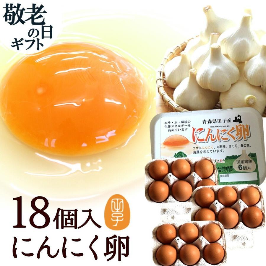 お買得 ギフト 卵 高級 卵かけご飯 にんにく卵 生卵 新作 大人気 甘く生臭さニンニク臭無し 18個入