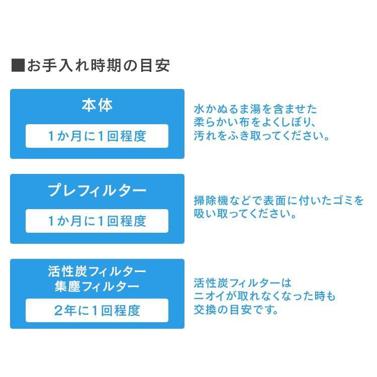 空気清浄機 花粉 アイリスオーヤマ 小型 モニター空気清浄機 25畳 ホワイト MSAP-DC100 送料無料 ペット モニター付き ホコリ ハウスダスト ウイルス 除去|takuhaibin|15
