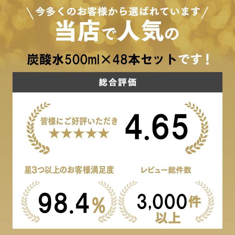 炭酸水 500ml 48本 強炭酸 炭酸飲料 ミネラルウォーター アイリスオーヤマ 水 飲料水|takuhaibin|02