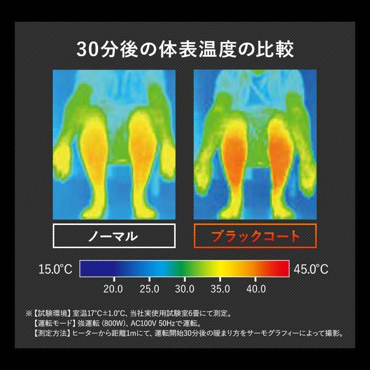 ストーブ ヒーター 遠赤外線電気ストーブ 縦型首振り ブラックコートヒーター ホワイト IESB-S800 アイリスオーヤマ takuhaibin 05