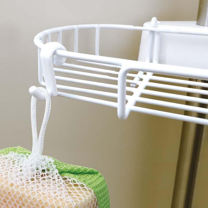 ラック 浴室 浴室突張りラック お風呂 BLT-25 アイリスオーヤマ コーナーラック 3段 浴室収納 つっぱり 棚 アイリス|takuhaibin|04
