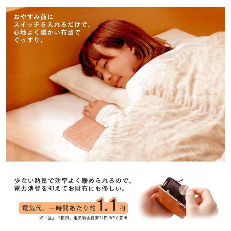 電気毛布 電気しき毛布 敷き毛布 140×80cm EHB-1408-T 丸洗い ダニ対策 ブラウン アイリスオーヤマ takuhaibin 03