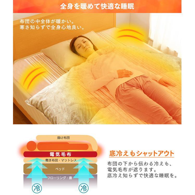 電気毛布 電気しき毛布 敷き毛布 190×130cm EHB-1913-T ブラウン 丸洗い ダニ対策 アイリスオーヤマ|takuhaibin|02