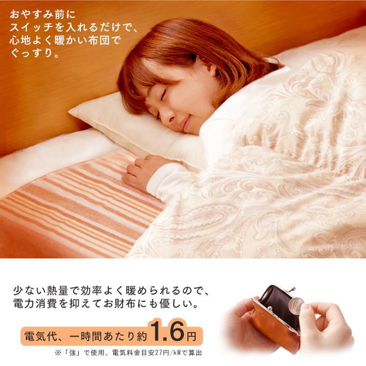 電気毛布 電気しき毛布 敷き毛布 190×130cm EHB-1913-T ブラウン 丸洗い ダニ対策 アイリスオーヤマ|takuhaibin|03