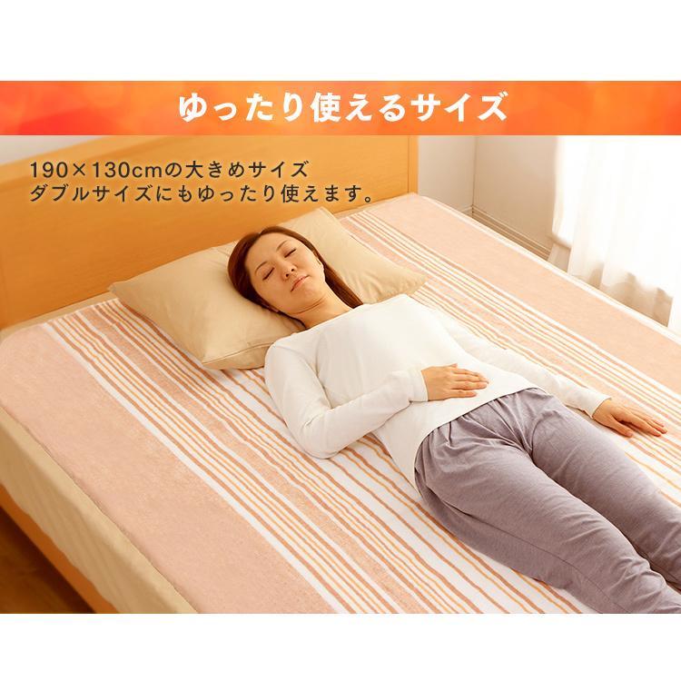 電気毛布 電気しき毛布 敷き毛布 190×130cm EHB-1913-T ブラウン 丸洗い ダニ対策 アイリスオーヤマ|takuhaibin|04