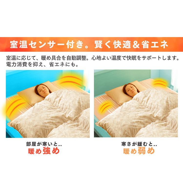 電気毛布 電気しき毛布 敷き毛布 190×130cm EHB-1913-T ブラウン 丸洗い ダニ対策 アイリスオーヤマ|takuhaibin|06