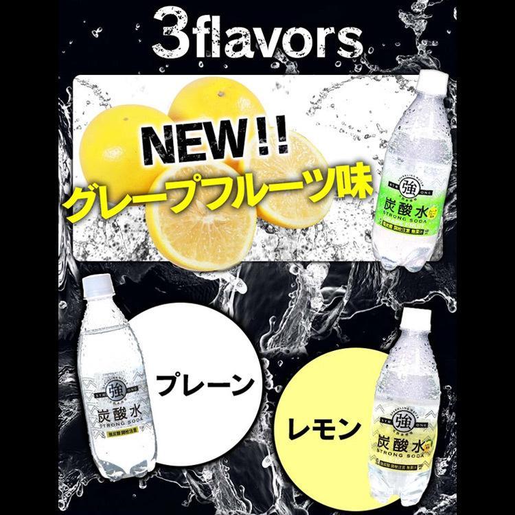 炭酸水 500ml 48本 送料無料 国産 強炭酸水 レモン プレーン スパークリングウォーター  ミネラルウォーター|takuhaibin|04