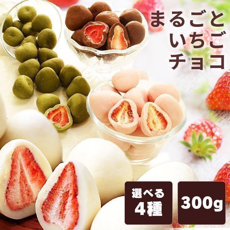 イチゴ チョコ ホワイト いちごチョコ チョコレート まるごといちごチョコ ホワイトチョコがけ 300g クール便対応 takuhaibin