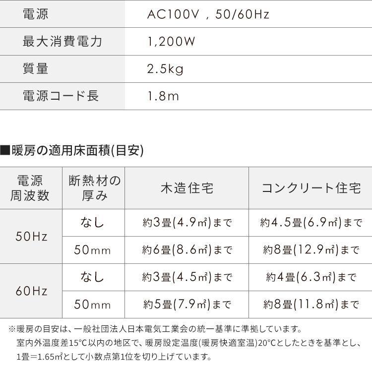 ファンヒーター セラミック 小型 おしゃれ 人感センサー付き大風量セラミックファンヒーター PDH-1200TD1-P・W・A アイリスオーヤマ|takuhaibin|19