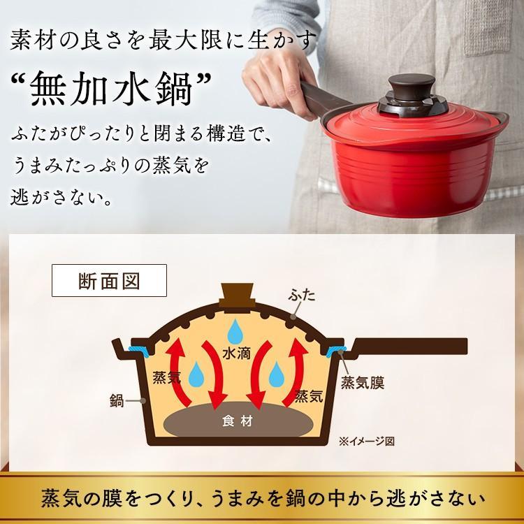鍋 片手鍋 18cm 無加水鍋 ih おしゃれ アイリスオーヤマ 無水鍋 IH対応 KMKS-18|takuhaibin|10