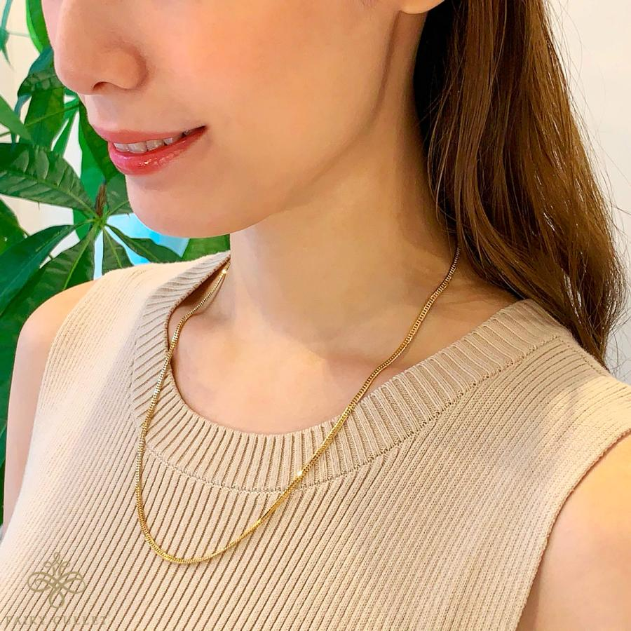 18金ネックレス K18 6面W喜平チェーン 日本製 検定印 10g 50cm 中留め|takumi-shopping|06