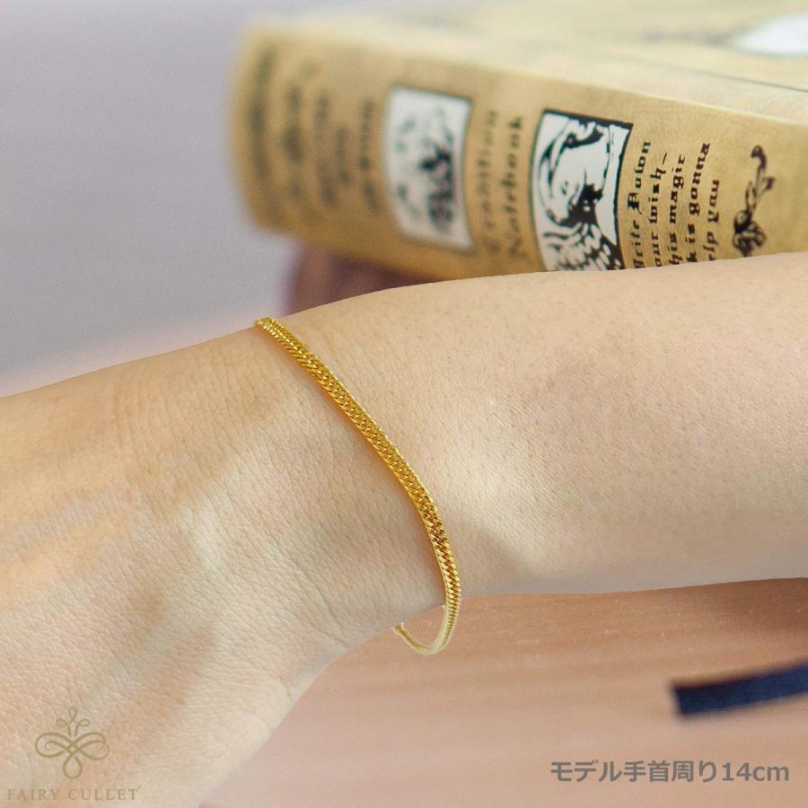 24金ブレスレット K24 6面W喜平チェーン 日本製 4g 18cm 引き輪 takumi-shopping 03
