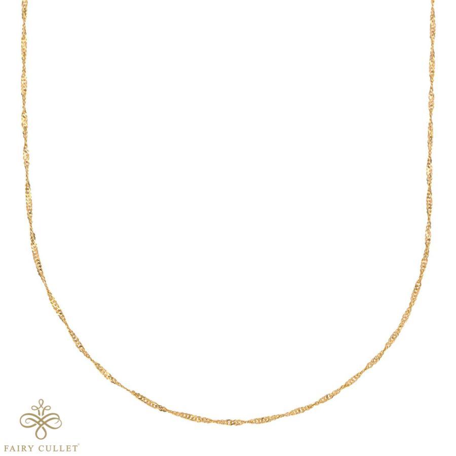 24金ネックレス K24 スクリューチェーン 日本製 純金 検定印 1.7g 42cm 引き輪 takumi-shopping 02
