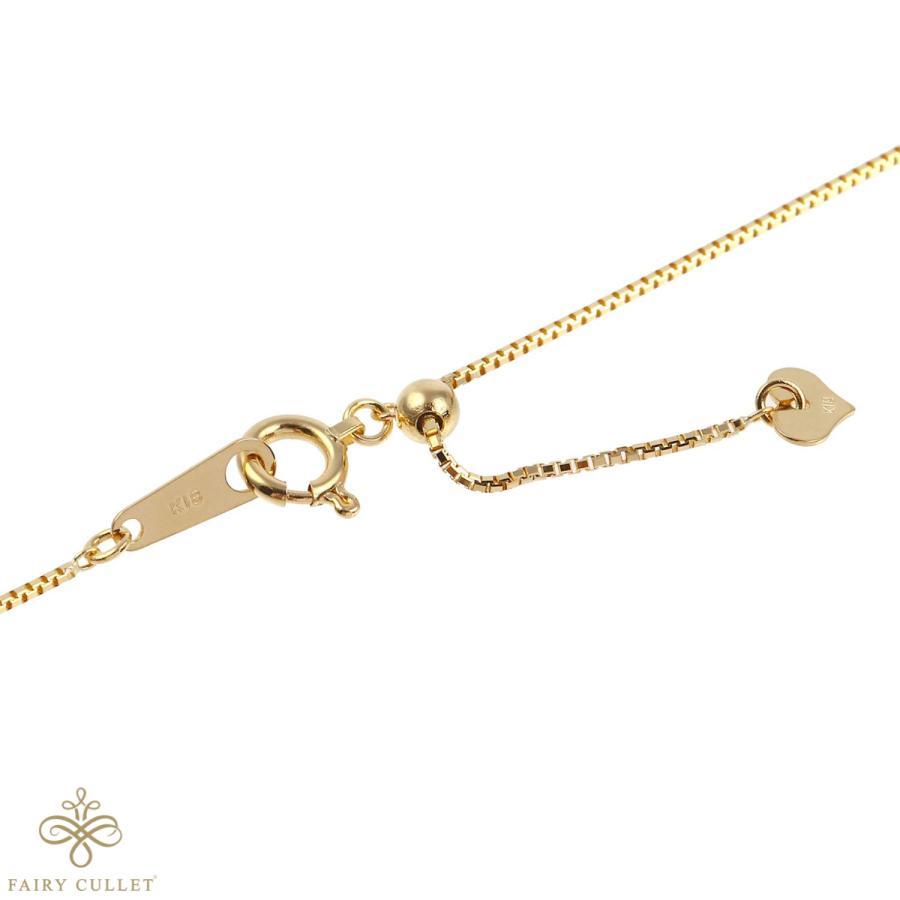 [フェアリーカレット] 18金ネックレス K18 ベネチアンチェーン 45cm (ハート型アジャスター 0.7mm幅 約1.8g)|takumi-shopping|02